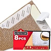 X-Protector Rug Grippers New 8 pcs Anti Curling Rug Gripper ? Rug Pad. Keeps Your Rug in Place & Corners Flat. Carpet…
