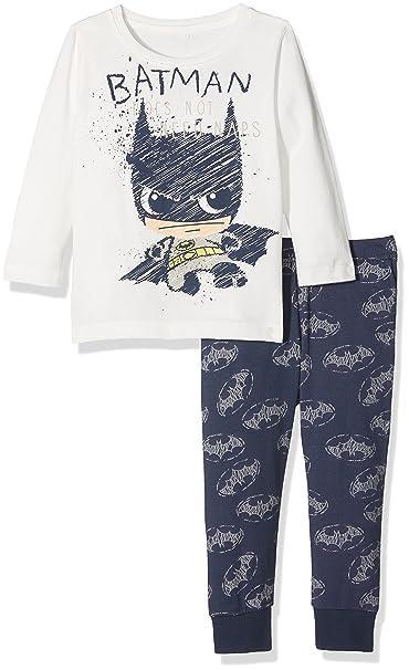 ce52a8df8 NAME IT Nmmbatman Mike Nightset Wab Noos, Pijama para Bebés, Azul (Dress  Blues