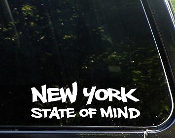 New York State of Mind (9 x 3) Die Cut Decal Bumper