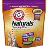 Arm & Hammer Naturals Clumping Litter, Double Duty Litter w/ Corn Fibers, 9lb