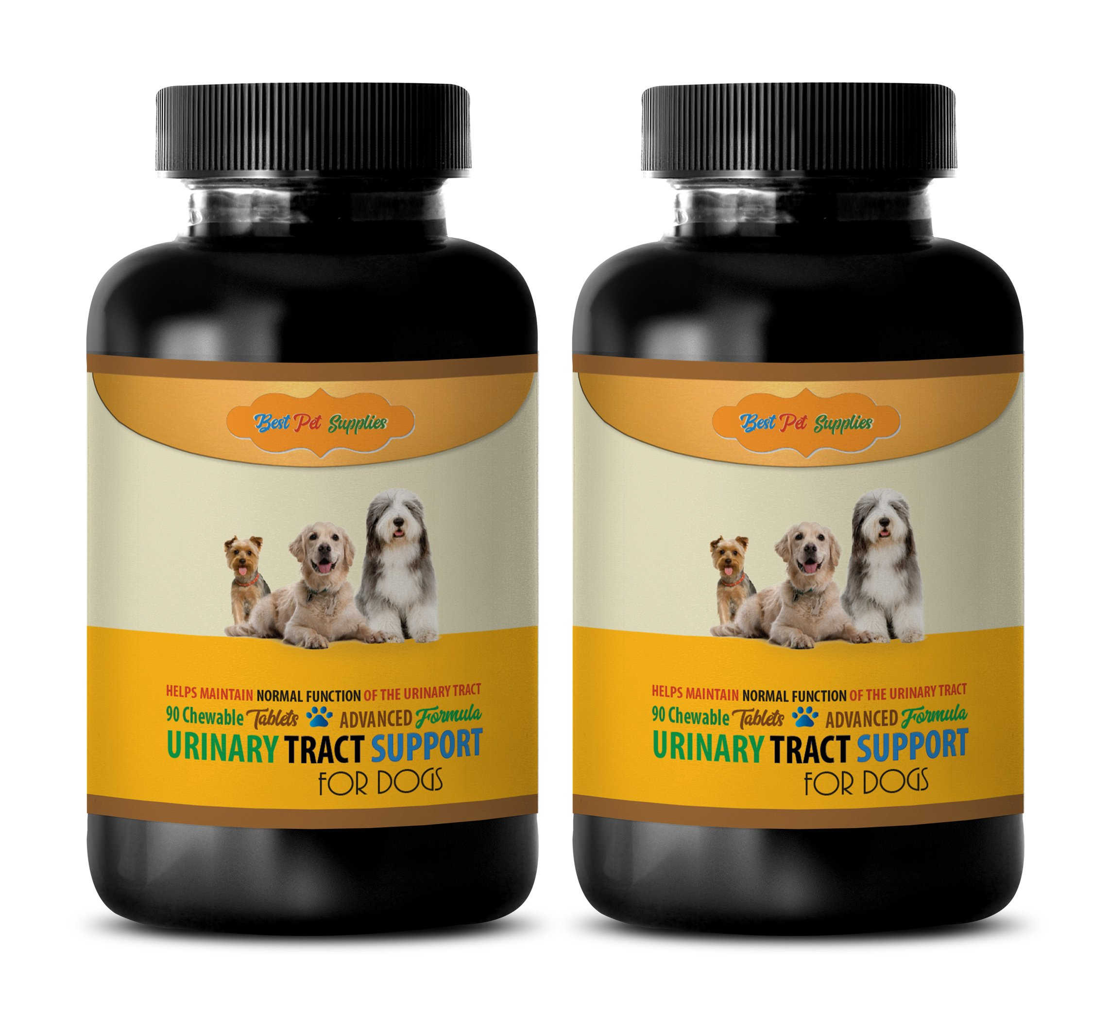BEST PET SUPPLIES LLC Dog Urinary Tract Support - Advanced Urinary Tract Support - for Dogs - CHEWABLE - Powerful Dog Formula - Dog Marshmallow - 180 Chews (2 Bottle) by BEST PET SUPPLIES LLC