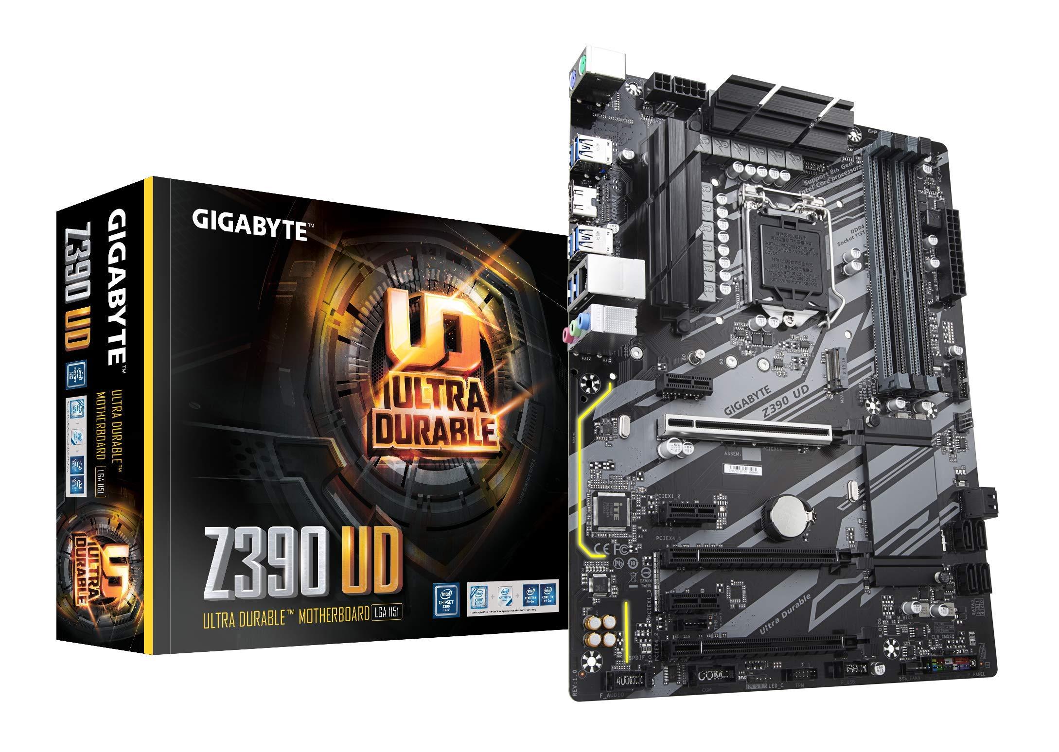 Gigabyte Z390 UD (Intel LGA1151/Z390/ATX/M.2/Realtek ALC887/Realtek 8118 Gaming LAN/HDMI/Gaming Motherboard) by Gigabyte