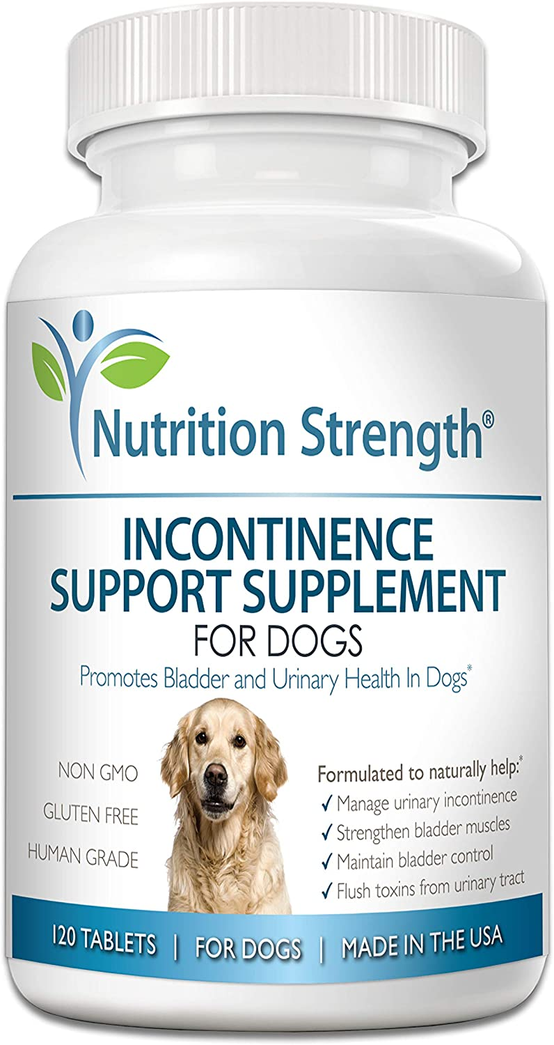 Amazon.com : Nutrition Strength Dog Incontinence Support, Supplement for Dog  Bladder Health, Organic Support for Dogs Leaking Urine, Promotes Dog  Bladder Control, 120 Chewable Tablets : Pet Supplies