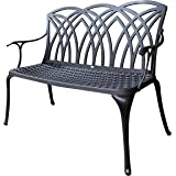 Lazy Susan Furniture - APRIL metal garden bench, Antique Bronze (No cushion)