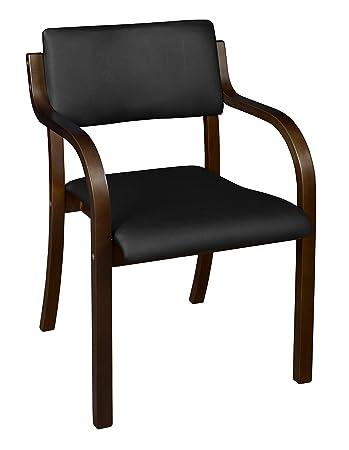 Phenomenal Niche Mia Bentwood Stack Chair Mocha Walnut Black Vinyl Ncnpc Chair Design For Home Ncnpcorg