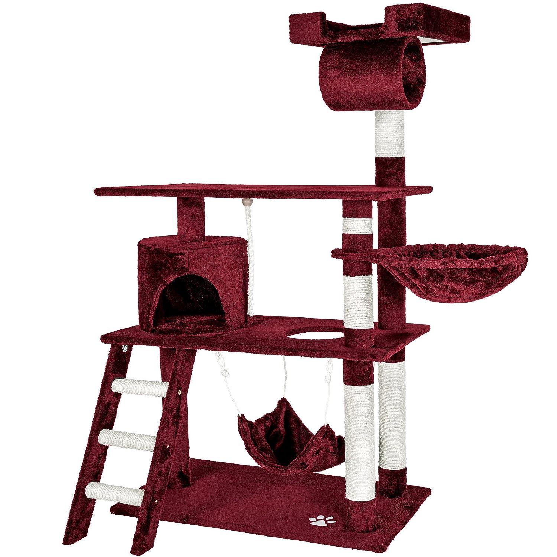 Beige | No. 401854 diverses couleurs au choix TecTake Arbre á chat géant grattoir griffoir et centre dactivités 141cm
