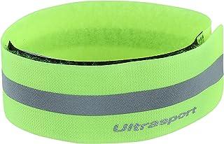Ultrasport Bande réfléchissante - Bande réfléchissante avec patte autogrippante pour plus de sécurité lors de toutes les activités de plein air, jaune fluo ULTBI|#Ultrasport 331500000666