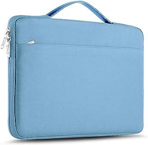 "ZINZ Laptop Sleeve 15 15.6 16 Inch Case Briefcase, Compatible MacBook Pro 16 15.4 inch, Surface Book 2/1 15"" Super Slim Spill-Resistant Handbag for Most Popular 15""-16"" Notebooks, Light Blue"