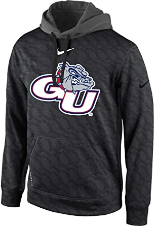 d38cc982 Image Unavailable. Image not available for. Color: Nike Gonzaga Bulldogs KO  Logo Chainmaille Pullover Therma-Fit Hoodie ...