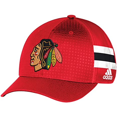 db1219ff93d6a Image Unavailable. Image not available for. Color  Chicago Blackhawks 2017  Adidas Draft Hat Structured Flex ...