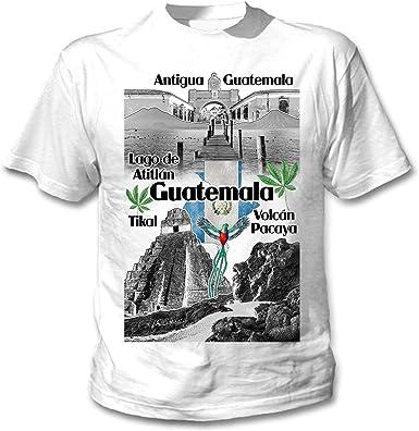 teesquare1st Guatemala Camiseta Blanca para Hombre de Algodon: Amazon.es: Ropa y accesorios