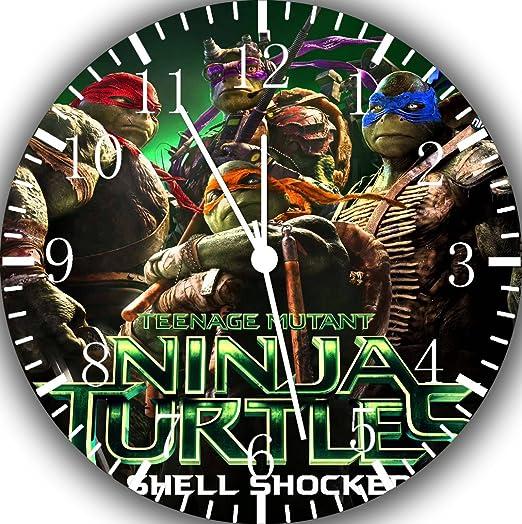 Diseño de las Tortugas ninja reloj de pared 25,4 cm color y ...