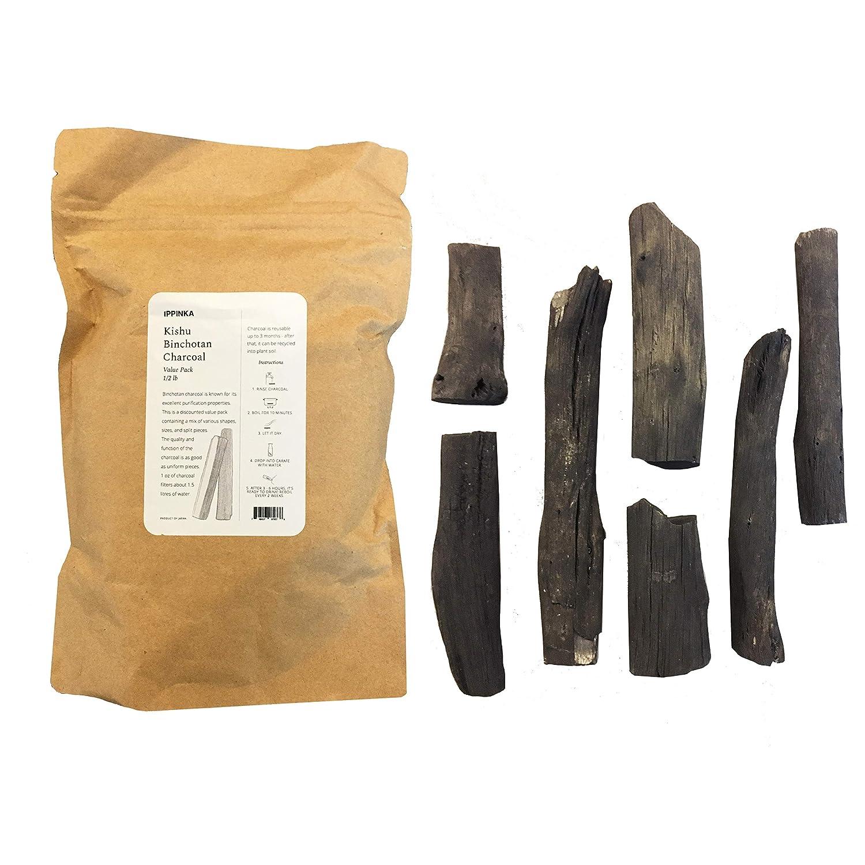 Kishu Binchotan Charcoal Water Filter, Half Pound Value Pack