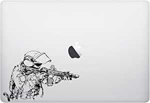Laptop Sticker Decal - Soldier Army Navy Military Marines air Force Sticker - Matte Black Skins Stickers