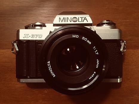 Minolta X-370 película cámara con un estándar de 50 mm f/1,7 lente ...