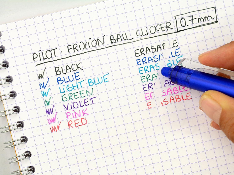 punta media FriXion Ball confezione da 3 pezzi red Pilot penne a sfera con inchiostro termosensibile