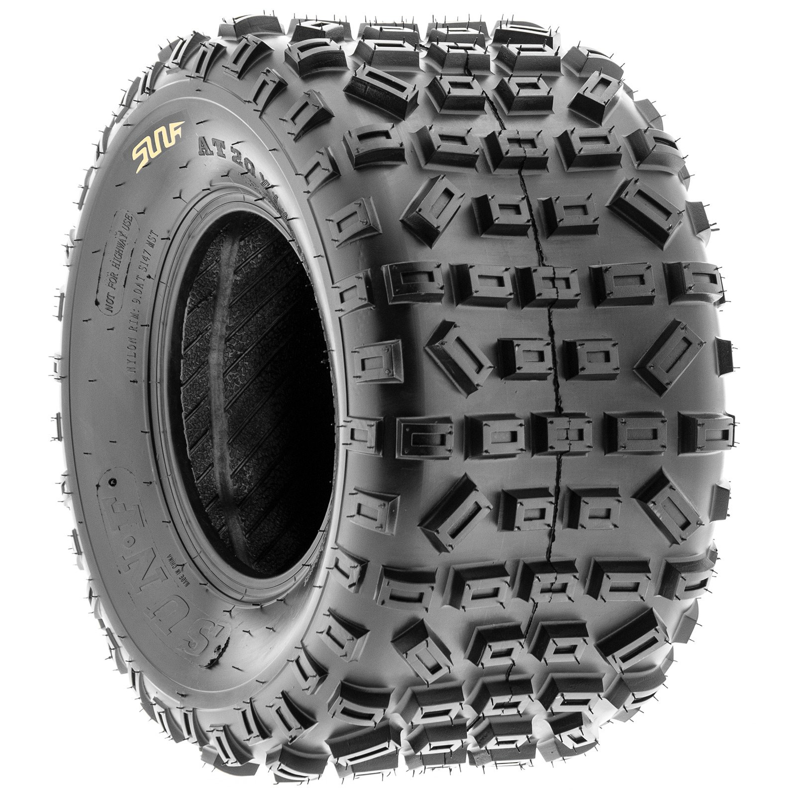 SunF Knobby XC MX ATV Tires 21x6-10 & 20x11-9 6 PR A035 (Full set of 4, Front & Rear) by SunF (Image #8)
