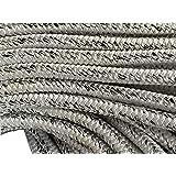 """5/8"""" X 120 Feet 12 carrier, 24-strand Polyester Arborist Bull Rope, White/Black"""