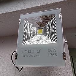 LEDMO Sensor de Foco led 50W , Radar de inducción foco led,Blanco ...