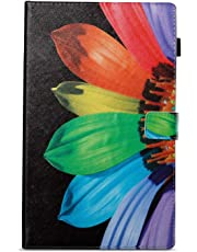 BoxTii Kindle Fire HD 10 Case, Painted style Premium Leather Case, Stand Design, Slim Fit Folding Case with Card slots and Cash holder for Kindle Fire HD 10 (flower)