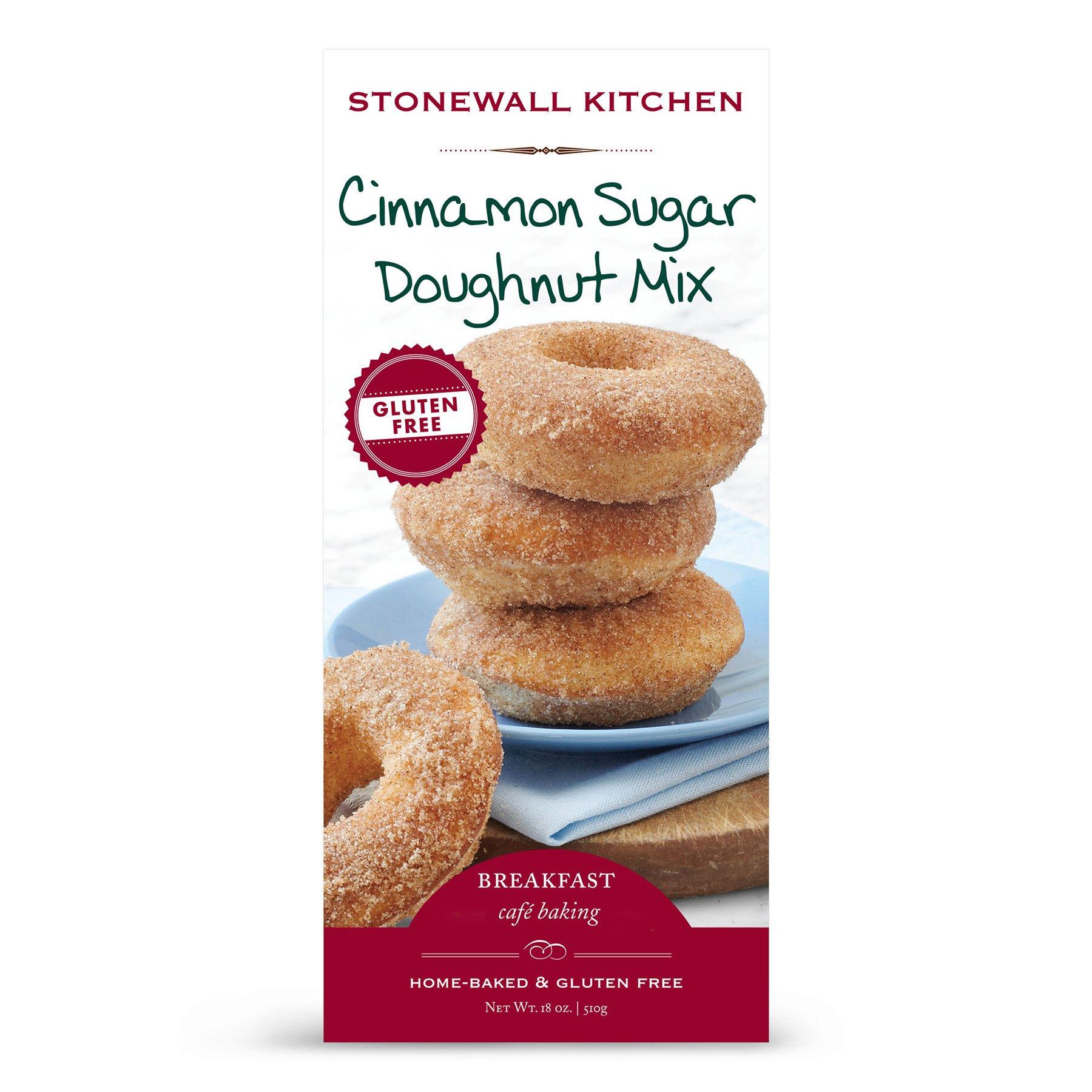 Stonewall Kitchen Gluten Free Cinnamon Sugar Doughnut Mix, 18 Ounce Box by Stonewall Kitchen