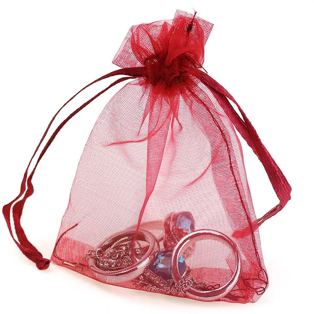 Amazon.com: Dealglad 100pcs Drawstring Organza Jewelry Candy Pouch ...