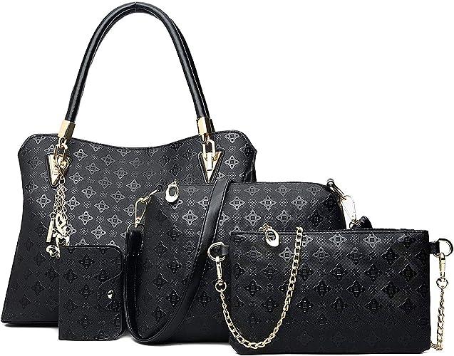 Womens Ladies Handbag Purse PU Leather Tote Shoulder Bag