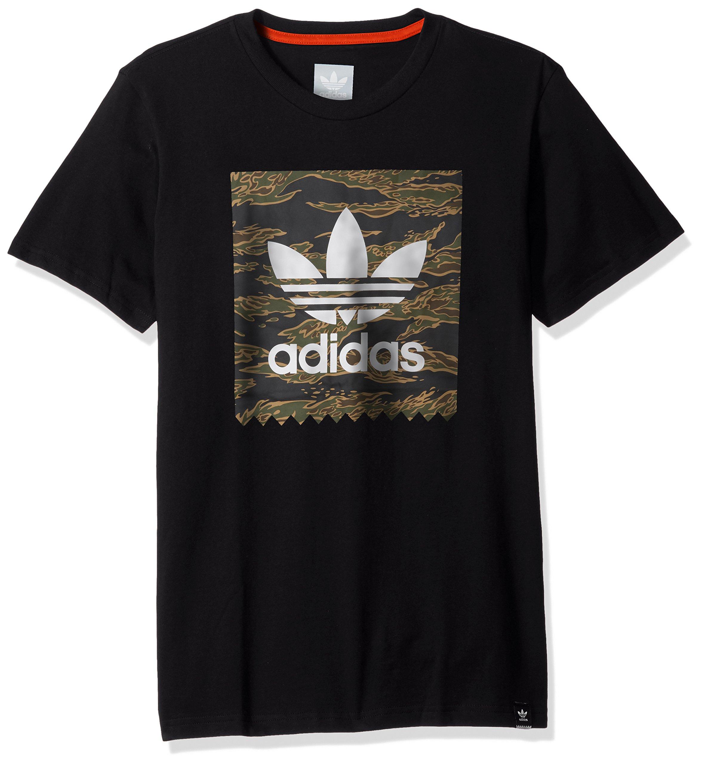 adidas Originals Men's Skateboarding Blackbird Tee, Black/camo Print/Collegiate Orange 2XL by adidas Originals (Image #1)