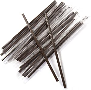Coffee Stirrers Sticks 400 Individually Wrapped 6.7in,Disposable coffee straw stirring rod,Coffee Straw,Disposable Plastic Drink Stirrer Sticks Health and Safety Three-hole coffee straw