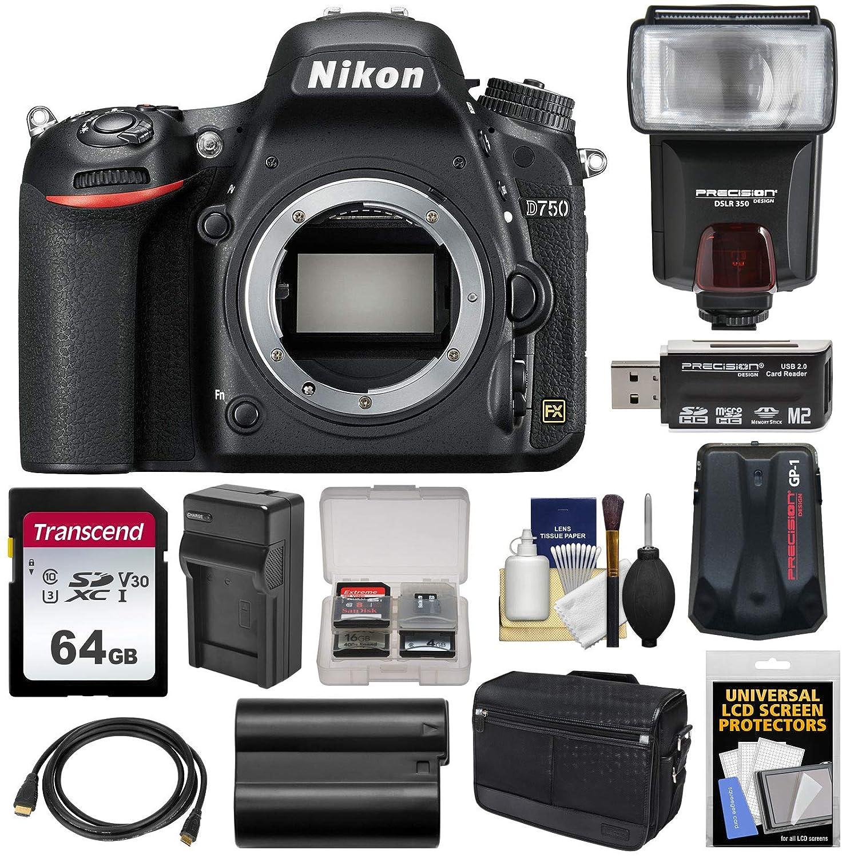 Nikon Cuerpo de la cámara D750 SLR Digital con Messenger Kit de 64 ...