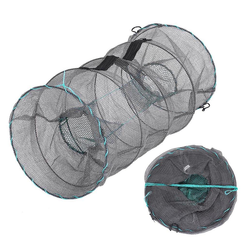 Lixada Crab TrapザリガニロブスターShrimp Collapsible Cast Net Fishing Net B07CQ2P8B6 30x60cm