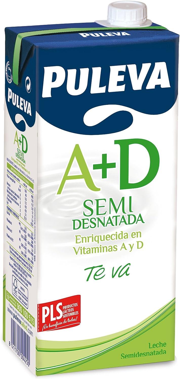Puleva - Leche Vitaminas A + D Semidesnatada, 1 L: Amazon ...