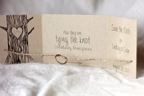 Tying the Knot Stamp Save the Date Save the Date Card