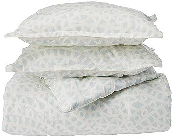 Amazoncom Echo Mykonos 3 Piece Comforter Set Skywhite Queen