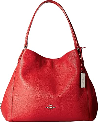 COACH Women's Refined Pebble Leather Edie 31 Shoulder Bag SV/True ...