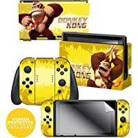 """Controller Gear Officially Licensed Nintendo Switch Skin & Screen Protector Set - Donkey Kong Swing"""" - Nintendo Switch"""