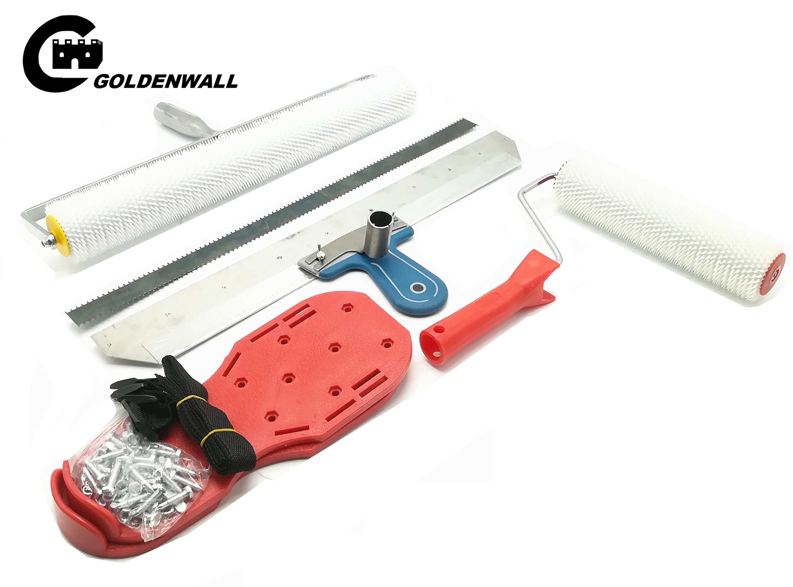 Cement Self-leveling Kit Epoxy tool Floor Paint Roller Blade Spike Construction Tool by CGOLDENWALL