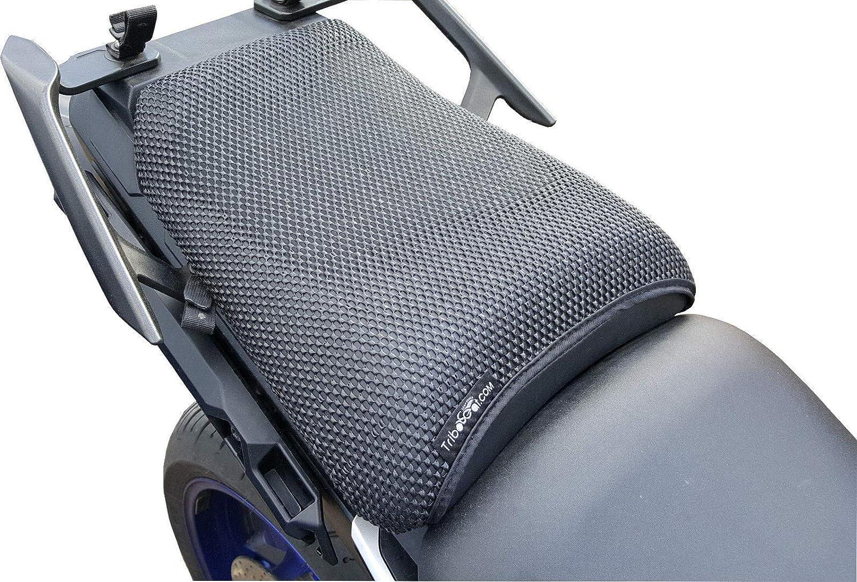 Cubierta TRIBOSEAT para Asiento Antideslizante Accesorio Personalizado Negro Compatible con Yamaha Tracer 900 2016-2017