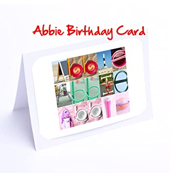Girls Personalised Cards 7x5 Photo Birthday Card Or Greeting Card