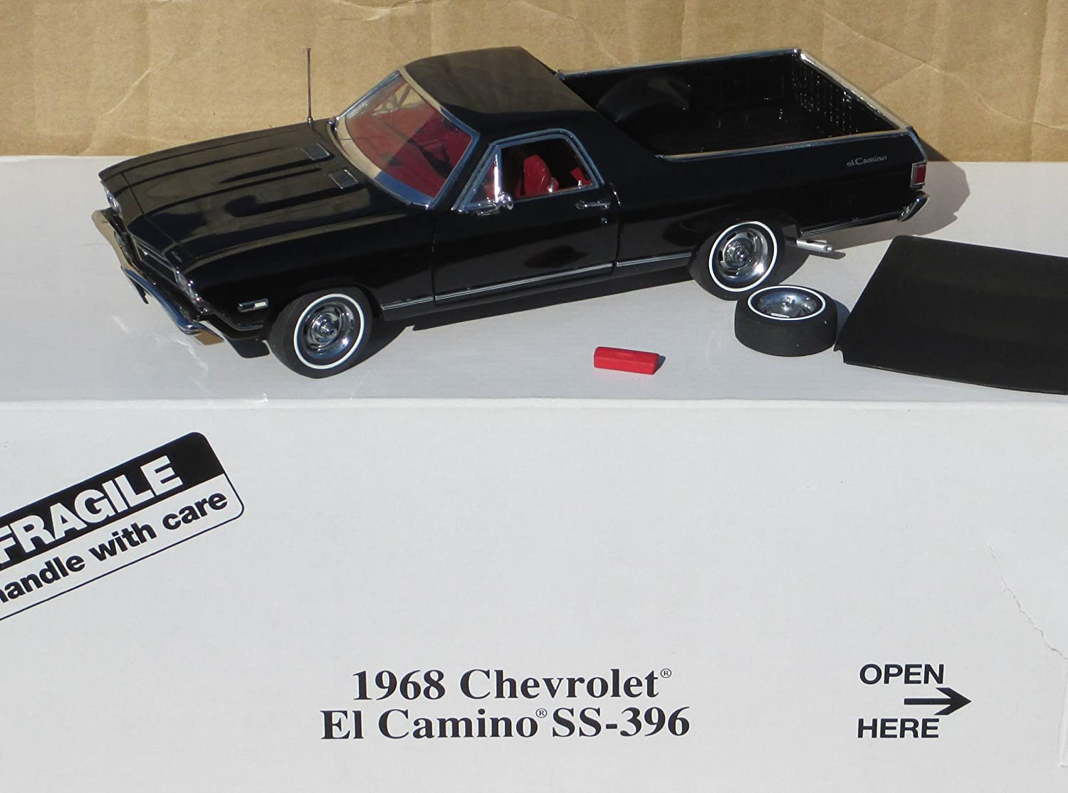 Buy Danbury Mint 1968 Black Chevy El Camino Ss 396 Car In 124 Scale Chevrolet Box Online At Low Prices India