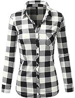 J.TOMSON Women's Ultra Soft Roll Up Sleeve Plaid Shirt S-3XL (6 Colors)