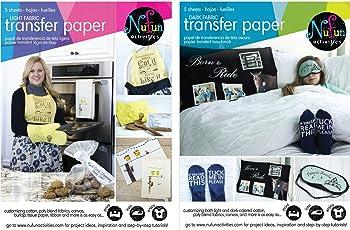 NuFun Activities Inkjet Printable Iron-On Heat Transfer Paper Light and Dark Combo Pack