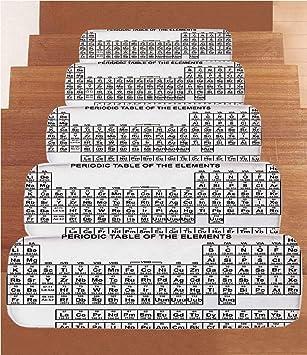 SoSung Egipto Decor - Juego de 5 Alfombrillas de Forro Polar para Escalera, diseño de faraón Egipcio, Color Blanco y Negro: Amazon.es: Juguetes y juegos