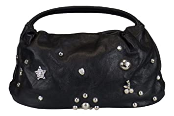 fd83cd8ed4 Amazon.com : SONIA RYKIEL Black Leather Embellished Handbag : Baby