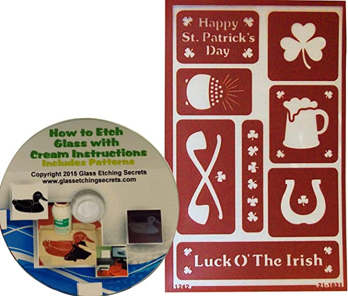 Patriotic Birthdays Adhesive Stencils: Christmas,Valentines Day How to Etch CD St Patricks Day Assorted Holiday Reusable Halloween Glass Etching Stencils Easter