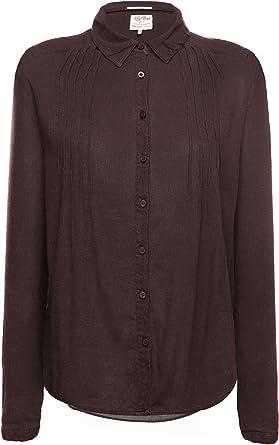 khujo - Camisa deportiva - Liso - para mujer marrón oscuro XL: Amazon.es: Ropa y accesorios