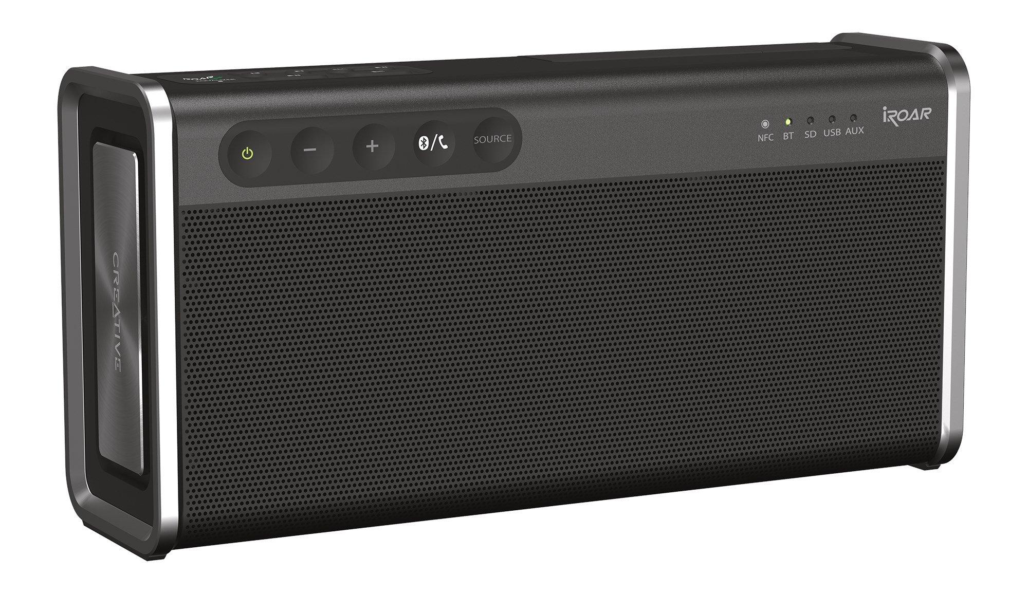 Creative iRoar Go Intelligent Splash-proof Portable 5-Driver Bluetooth Speaker with SuperWide Technology