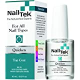 Nail Tek Quicken, Fast Drying Top Coat for All Nail Types, 0.5 oz, 1-Pack