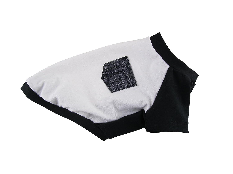 Black Contrasting Cotton Jersey Raglan Pocket T-shirt, Dog Top, Dog Clothing, Dog Apparel, Pet Apparel Made in USA