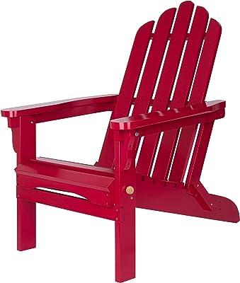 Shine Company Marina Adirondack Folding Chair, Chili Pepper